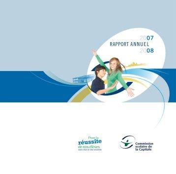 Rapport annuel 2007-2008 - Commission scolaire de la Capitale