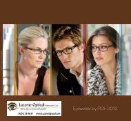 Eyewear by ROI • 2012 - Luzerne Optical Labs