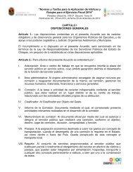 """""""Normas y Tarifas para la Aplicación de Viáticos y Pasajes para el ..."""