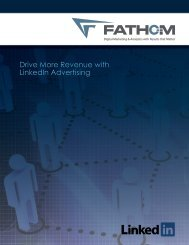Download the LinkedIn Advertising White Paper - Fathom
