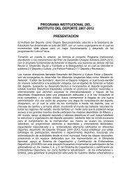Programa Institucional del Instituto del Deporte - Secretaria de ...