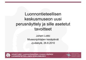 Juhani Lokki - Suomen museoliitto
