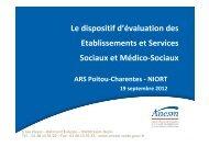 Le dispositif d'évaluation des établissements et services sociaux et ...