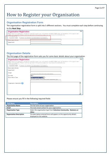 How to Register your Organisation - Volunteer Now