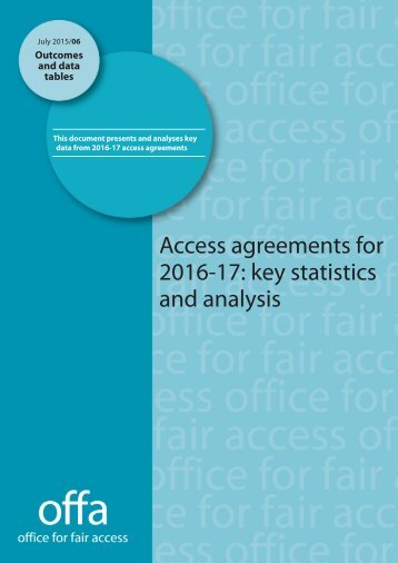 Access-agreements-for-2016-17-key-statistics-and-analysis