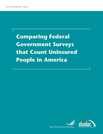 Comparing Federal Government Surveys that Count Uninsured ...