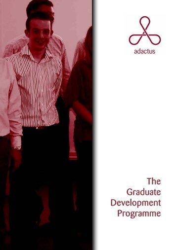 The Graduate Development Programme - Adactus Housing Group Ltd