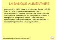 La Banque Alimentaire 17 - ARS Poitou-Charentes