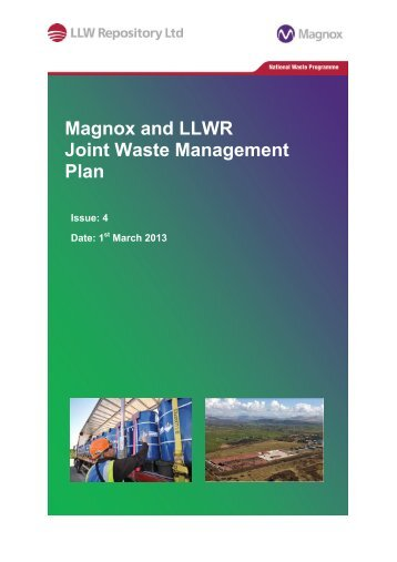 Magnox and LLWR Joint Waste Management Plan - Low Level ...