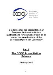 Accreditation guidelines - ECOO