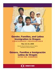 Gender, Families, and Latino Immigration in Oregon Género ...