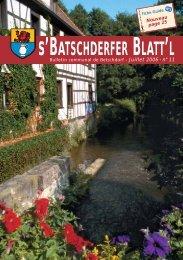 Juillet 2006 - n° 11 - Betschdorf