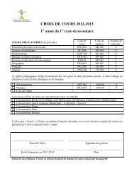 CHOIX DE COURS 2012-2013