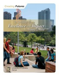 Excellence and Impact - University of Colorado Foundation
