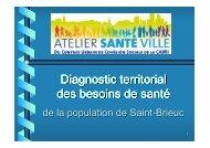 Diagnostic des besoins de santé - Saint-Brieuc