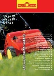 UV 30 EV UV 32 EV UV 34 E UV 30 EV UV 32 ... - WOLF-Garten NL