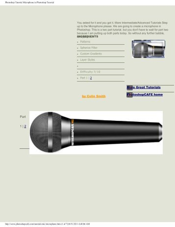 Realistic Microphone in Photoshop Photoshop Tutorial