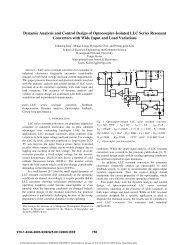 Dynamic Analysis and Control Design of Optocoupler-Isolated LLC ...