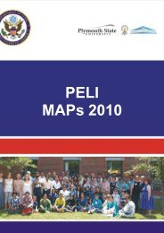 Master Action Plans-PELI 2010 - Institute For Professional Learning