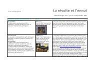 Pistes pédagogiques première et term option - FRAC Auvergne