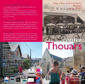 """le programme """"Laissez-vous conter Thouars"""" - Villes et Pays d'art et ..."""