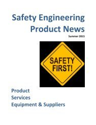 Safety Engineering Product News