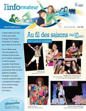 """L'Informateur, """"Au fil des saisons"""" - Commission scolaire de la Capitale"""