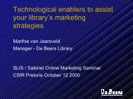 Technological enablers to assist your library's marketing ... - SAOUG