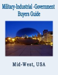 Military,Industrial & Government Buyers Guide for the Mid West, USA.