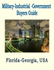 Military, Industrial & Government Buyers Guide for Florida- Georgia, USA.