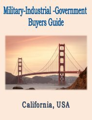 Military, Industrial & Government Buyers Guide for California, USA.