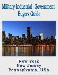 Military, Industrial & Government Buyers Guide for New York, New Jersey and Pennsylvania, USA.