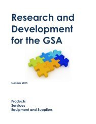 Research and Development for the GSA