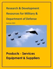Research & Development Resources for Military & Department of Defense.