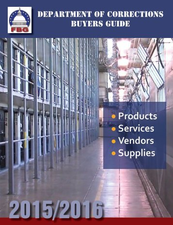 Department of Corrections Buyers Guide