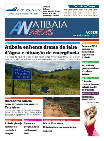 Atibaia enfrenta drama da falta d'água e situação de emergência