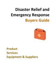 Disaster Relief and Emergency Response Buyers Guide