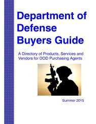 Department of Defense Buyers Guide.