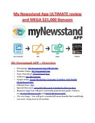 My Newsstand App ULTIMATE review and MEGA $21,000 Bonuses