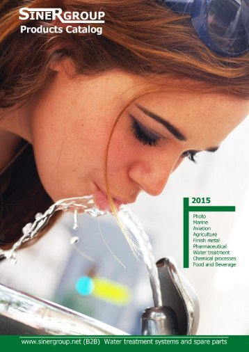 18 July 2015 Sinergroup Products Catalog Water Softeners Reverse Osmosis Water Coolers