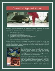Commercial Appraisal Services