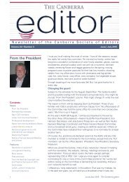 The Canberra editor June-July 2015
