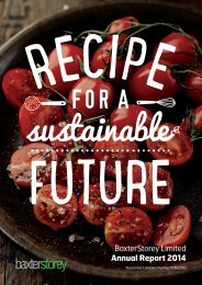 BaxterStorey Limited Annual Report 2014