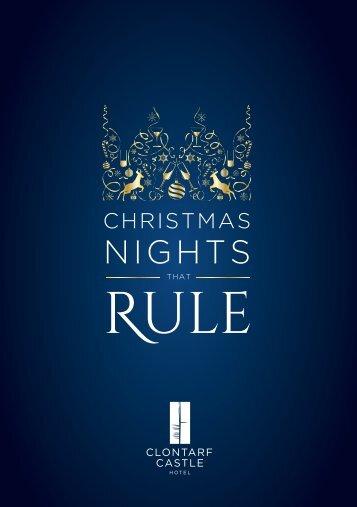 Clontarf Castle Hotel Christmas Party Brochure