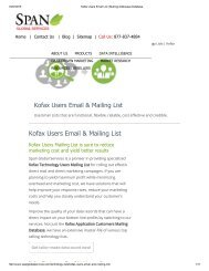 Get Customized Kofax End User Lists from Span Global Services