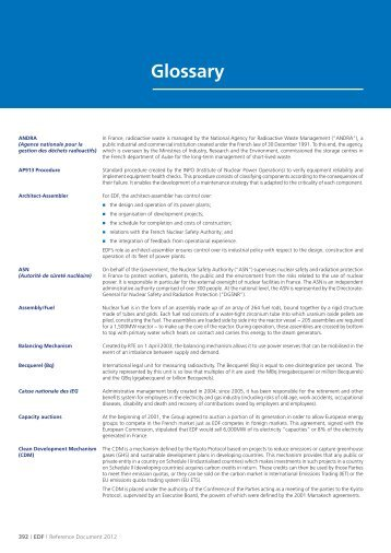 Glossary (PDF, 70 Kb) - Shareholders and investors - EDF