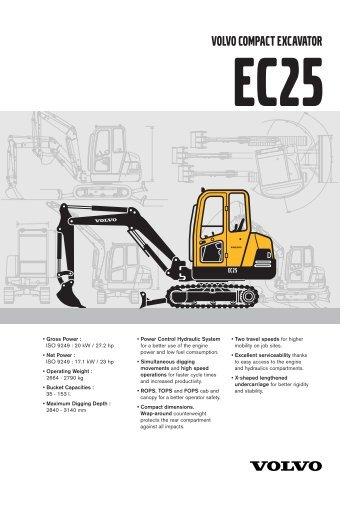 volvo compact excavator ec25 - Plant Hire UK Limited