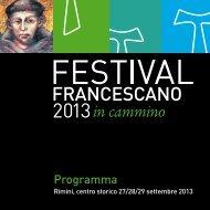 il programma del Festival - Fondazione Cassa di Risparmio di Rimini