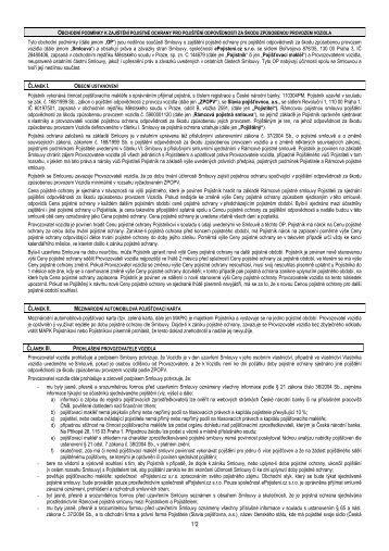 Obchodní podmínky k zajištění pojistné ochrany pro ... - ePojisteni.cz