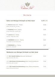 Weinkarte - Pauliner Hof